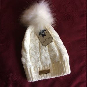 Simply Southern Accessories - Simply Southern Youth Cable Knit Pom Beanie 66cc2cd4cd5e